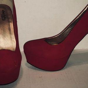 Charlotte Russe Red Platform heels